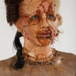 13. Prosthetic stitched face and hand made hair pieces